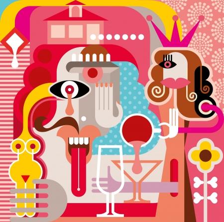 artes plasticas: La mujer y el hombre ilustraci�n Vectores