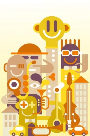graffiti art: The Fun City - vector illustration.