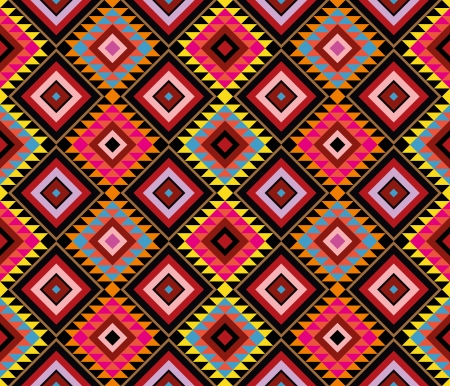 American Native Pattern - vector seamless wallpaper.