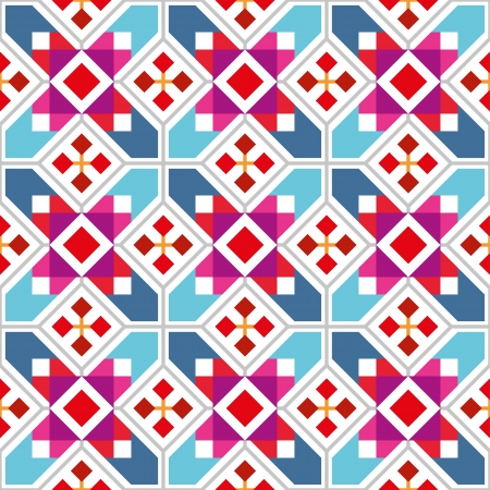 Geometric seamless wallpaper with abstract ethnic pattern. Vector