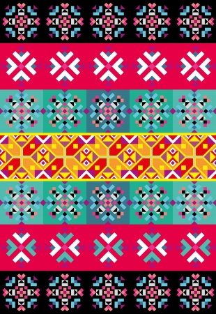 latin americans: Vector background with abstract ethnic pattern.