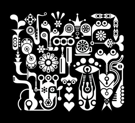 arte abstrata: Arte Abstrata - Composi Ilustra��o