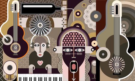 rock concert: Rock concert - illustrazione vettoriale. Vettoriali