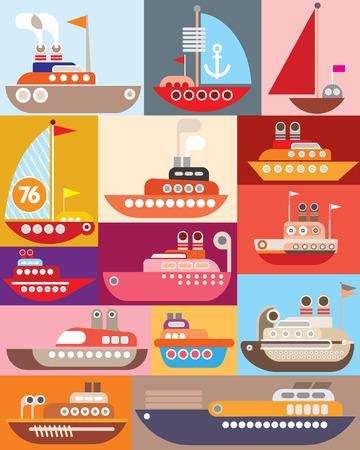 industrial ship: Ship and Boat - vector illustration. Maritime vessel. Illustration