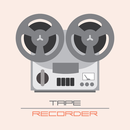old fashioned: Old Fashioned Tape Recorder vector illustration. Isolated icon. Illustration