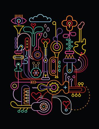 arte abstracto: Composici�n de arte abstracto. Vectores