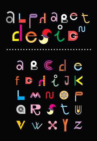 editable: Editable vector alphabet.