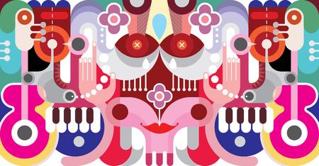 arte abstracto: Ilustración abstracta del arte del vector. Fondo del diseño gráfico.