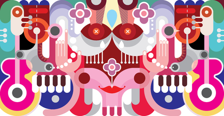 Abstract art vector illustration. Graphic design background.