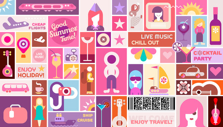 chillout: Travel and Holidayl poster vector template design.