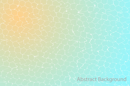 Gradient abstract background with ripple effect, vector template design. Swimming pool.