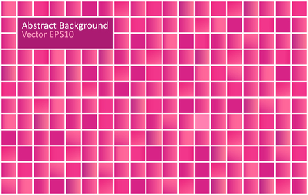 Red and purple tiles abstract vector background. Gradient mosaic design template. Illustration
