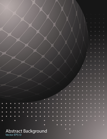 Dark gray gradient vector background with abstract shape. Cover design template.