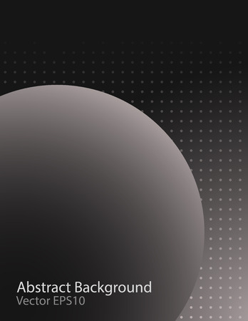 Dark grey gradient abstract vector background with sphere shape. Cover design template.