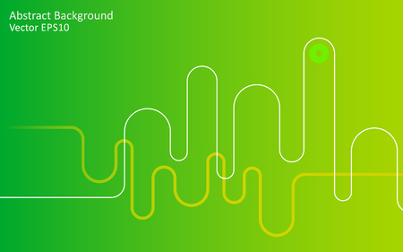Light green abstract design vector background with wave lines and gradient effect.