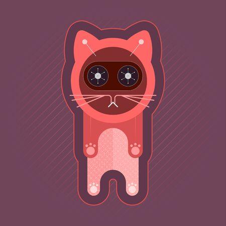 Kitten vector illustration. Design element.