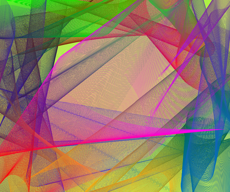Abstract stylish colorful background with plastic multicolored meshed shapes, creative vector illustration