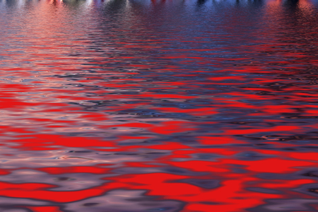 Bright abstract background, imitation of hot magmatic lake with molten lava effect Stock Photo