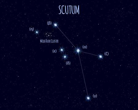 Scutum (The Shield) constellation, vector illustration Иллюстрация