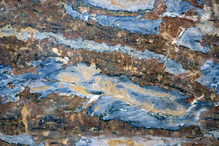 Multicolored layered marble texture with different veins and scratches, seamless pattern Фото со стока