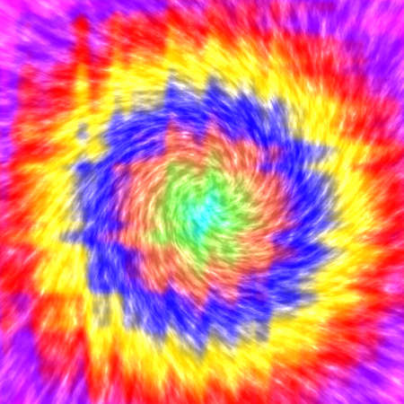 Creative bright abstract background, trendy round rainbow pattern, tie dye design