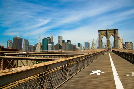 bridges: Brooklyn Bridge and Manhattan