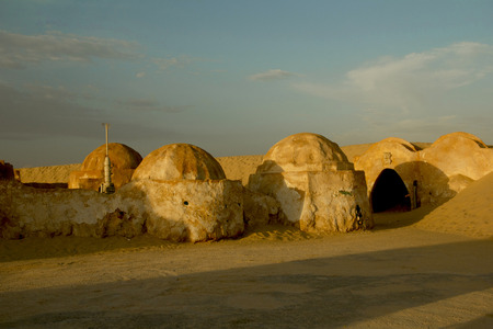 scenery for the movie Star Wars, Tatooine Stock Photo