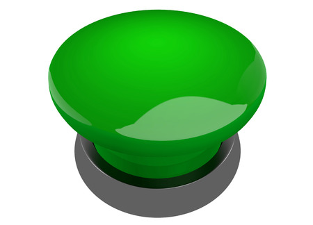 buzzer: Green buzzer button Stock Photo