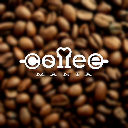 mania: Template for logos, labels, emblems for coffee house, cafe, coffee shop, restaurant, coffee store, etc. Vector illustration. Illustration