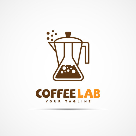 Coffee lab logo template design. Vector illustration.