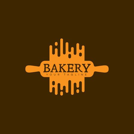 Bakkerij logo sjabloonontwerp. Vector illustratie.