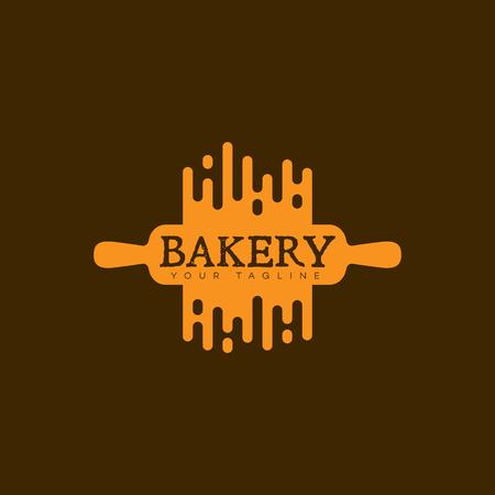 Disegno del modello logo panetteria. Illustrazione vettoriale Logo
