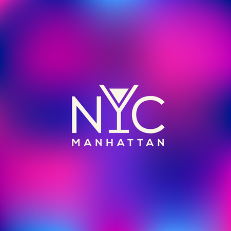 Manhattan logo template design. Vector illustration.