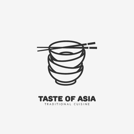 Taste of Asia logo template design. Vector illustration. Illustration