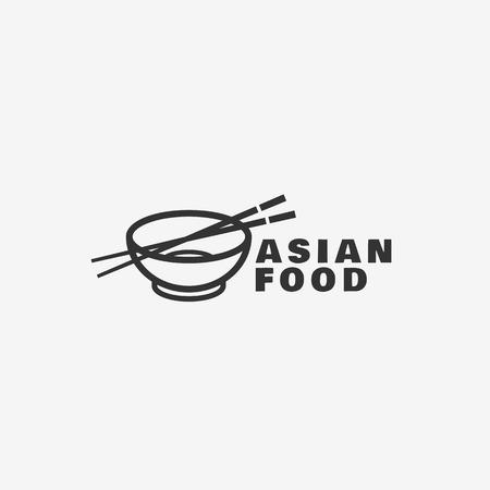 Asian food logo template design. Vector illustration. Logo