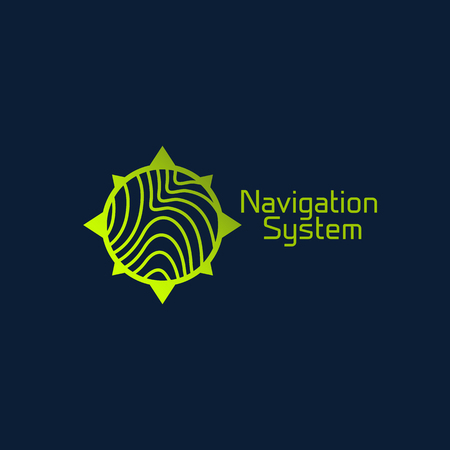 Navigation system logo template design. Vector illustration.