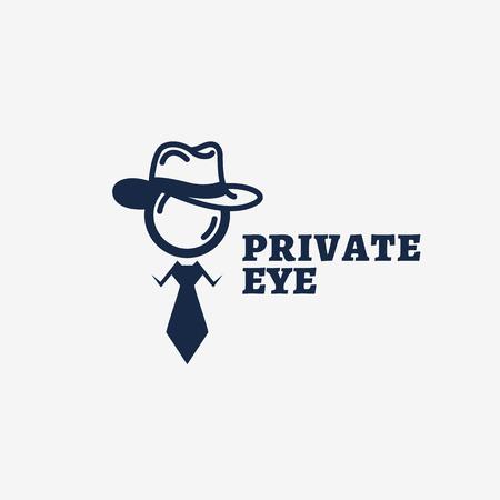 Diseño de plantilla de logotipo de ojo privado. Ilustración vectorial