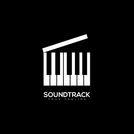 Soundtrack logo template design on black background. Vector illustration.