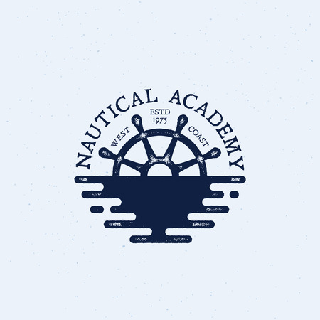 Nautical logo template design. Vector illustration.