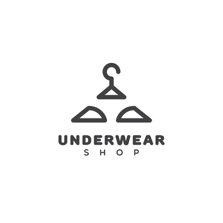 Underwear shop logo template design. Vector illustration.