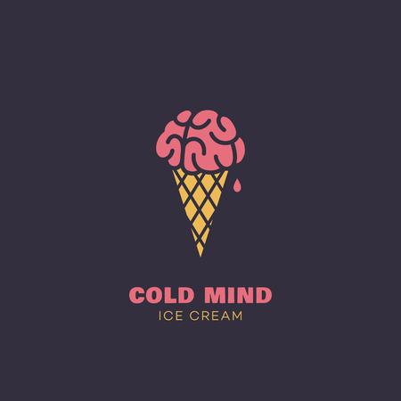 Cold mind logo design template. Vector illustration.