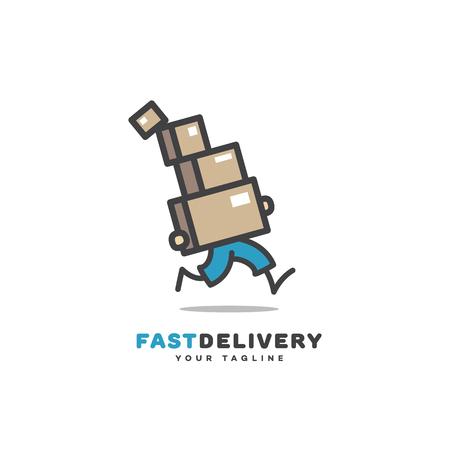 Fast delivery logo template design. Vector illustration. Ilustração