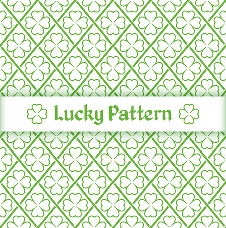 Seamless pattern with quatrefoil leaves and overlapping grid. Vector illustration. Illusztráció