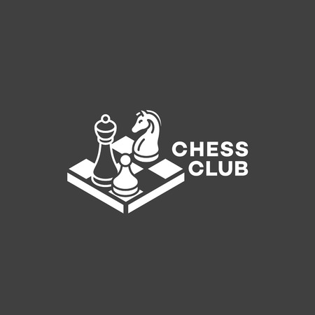 Chess club logo design template. Vector illustration.