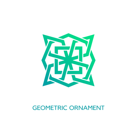 Geometric emblem design template with smooth gradient fill on a white background. Vector illustration. Illusztráció