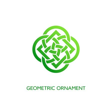 Geometric emblem design template with smooth gradient fill on a white background. Vector illustration. 向量圖像