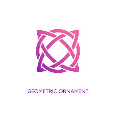 Geometric emblem design template with smooth gradient fill on a white background. Vector illustration. 版權商用圖片 - 131687478