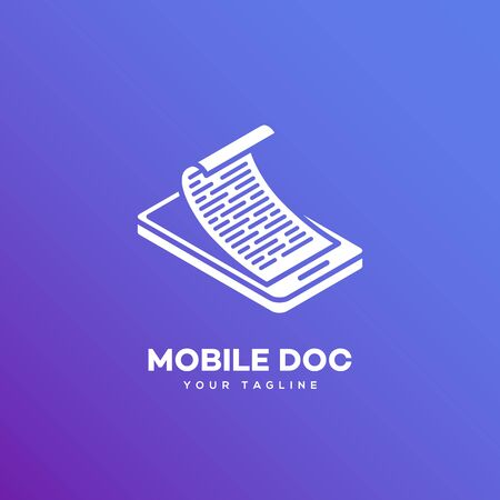 Mobile doc logo design template. Vector illustration.