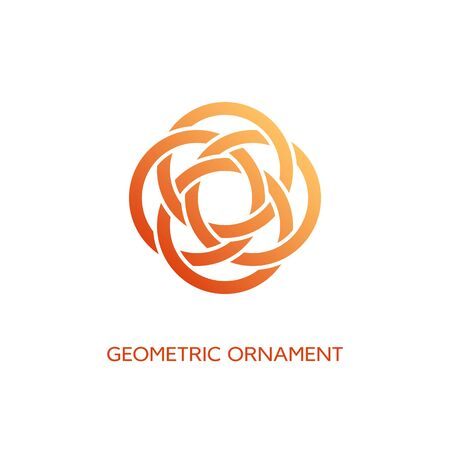 Geometric emblem design template with smooth gradient fill on a white background. Vector illustration. Ilustração