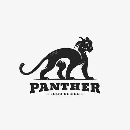 Panther logo design template. Vector illustration. Ilustração